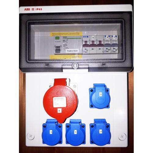 Zásuvkový rozvaděč ZR02 v krytí IP54